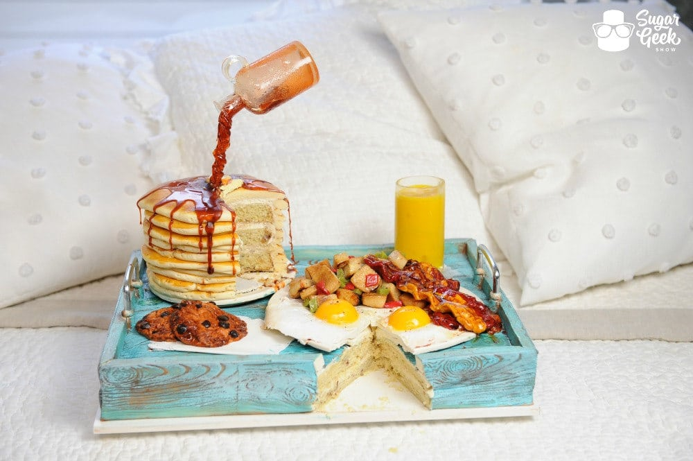 Breakfast in bed cake