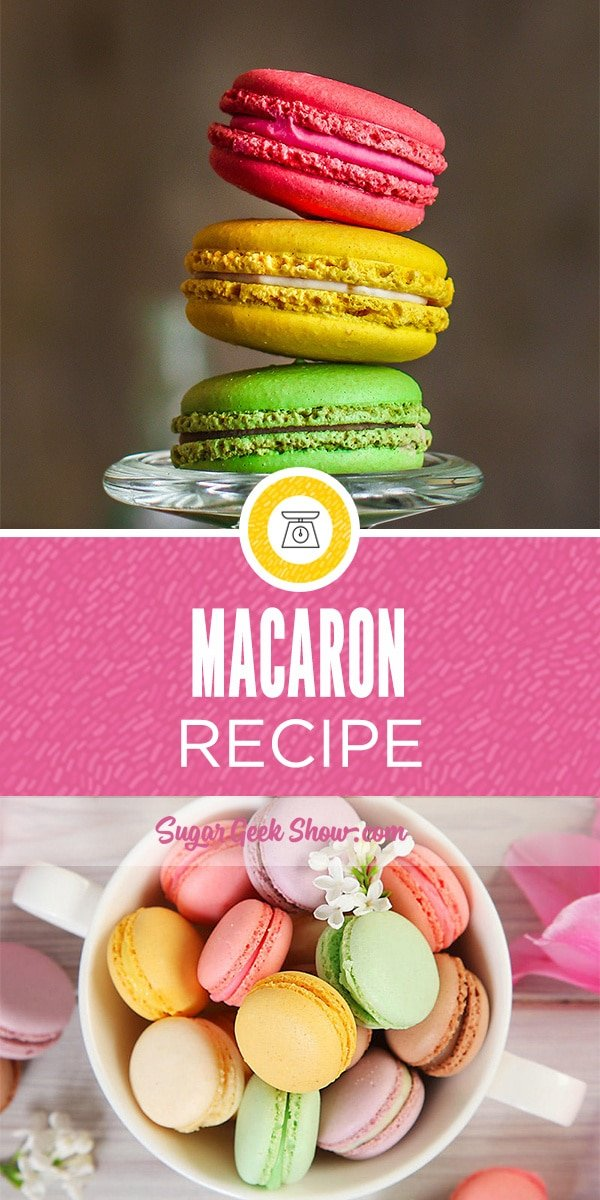 This is an easy french macaron recipe (pronounced mac-ah-rohn). I make a big batch of these and then freeze them so I have some on hand for these trendy cream tarts!