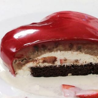Valentine's Day Mirror Glaze Heart Cake