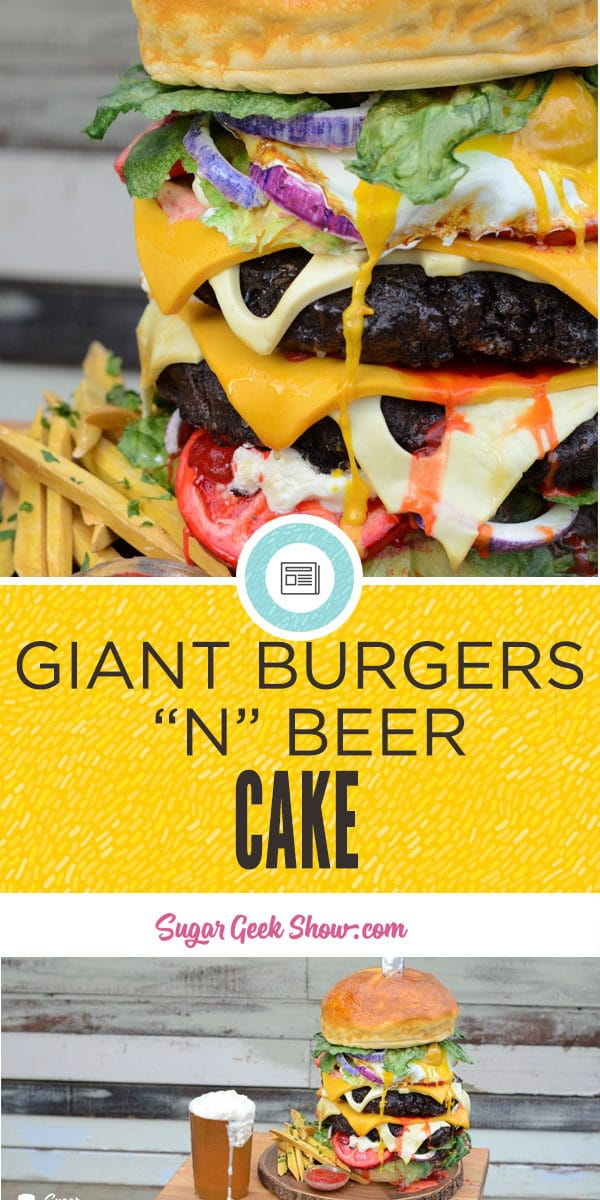 Giant Burgers and Beer Cake