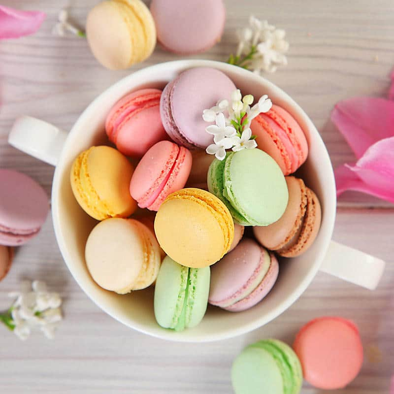 French Macaron Recipe that makes crispy cookies with chewy centers. Step by step instructions on how to make the perfect french macaron