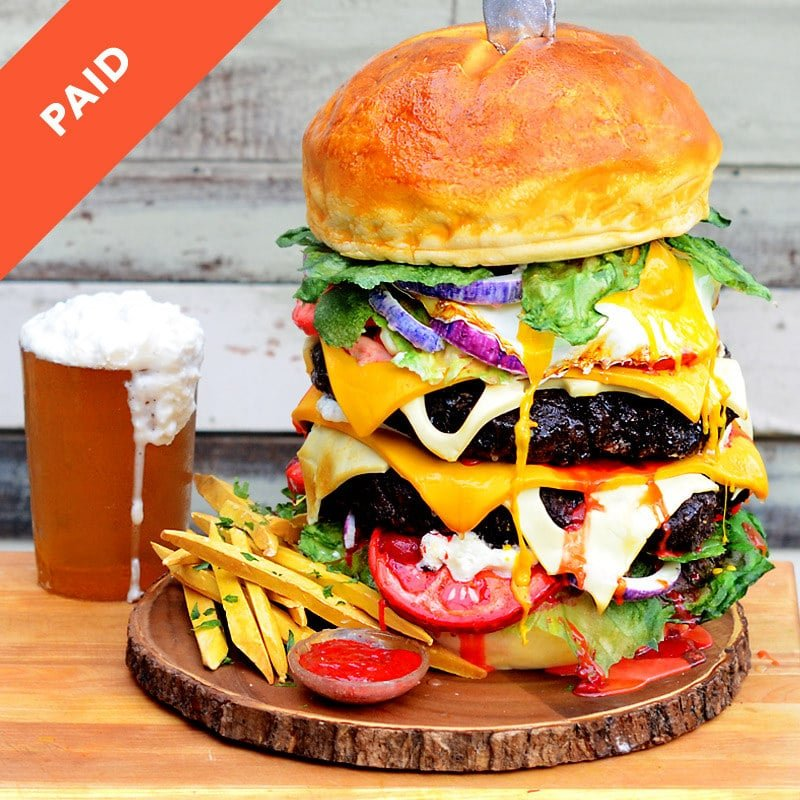 Hamburger And Beer Cake Tutorial