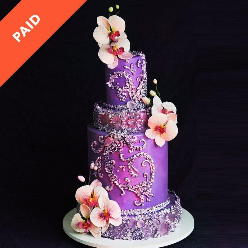 Purple Bling Cake Tutorial