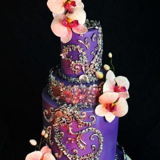 Purple Bling Cake