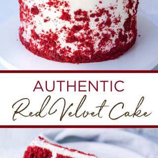 pinterest image for red velvet cake recipe