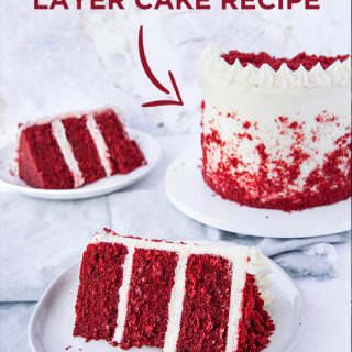 how to make an authentic red velvet layer cake with cream cheese frosting. If you've been wondering how to make a REAL red velvet cake, you need to try this recipe!