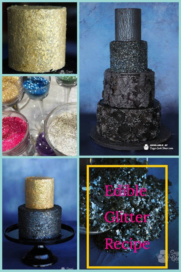 The great thing about making edible glitter is that it's pretty dang easy. You probably already have all the ingredients you need for it in your shop (if you're a cake decorator).