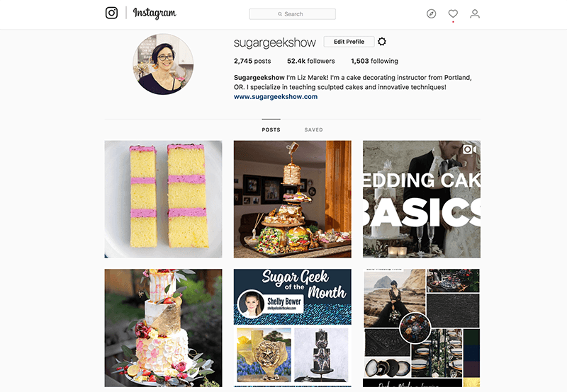 instagram for cake decorators