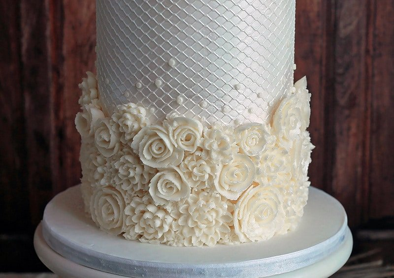 white buttercream textures - shannon bond