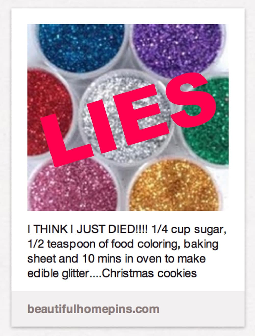 edible glitter recipe