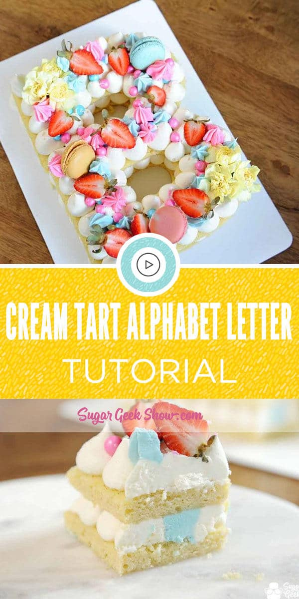 Cream Tart Alphabet Letter Tutorial