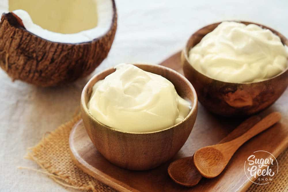 creamy coconut custard made from coconut milk