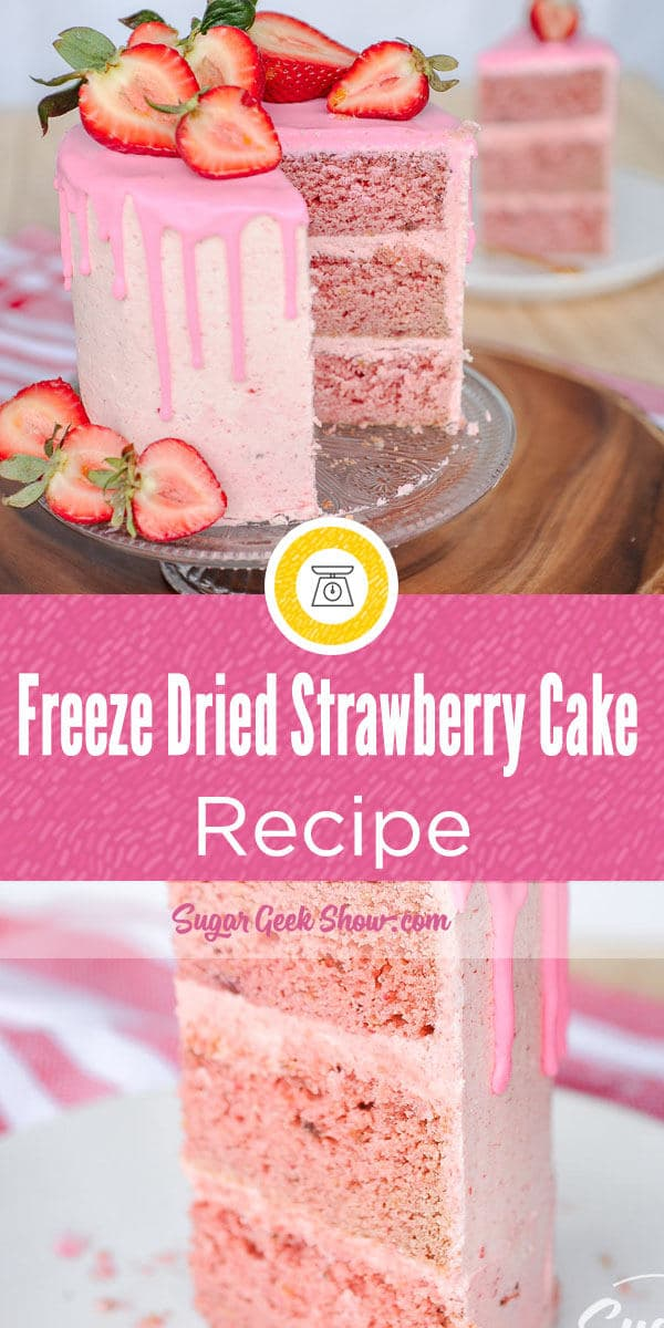 Freeze Dried Strawberry Cake Recipe