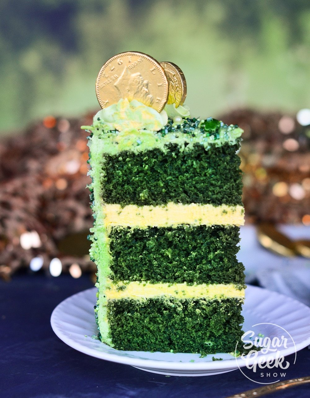 St Patricks Day Cake Green Velvet