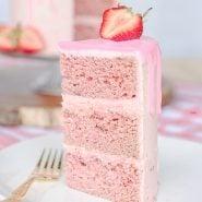freeze-dried strawberry cake