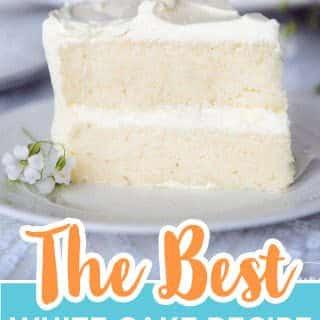 white cake recipe pin
