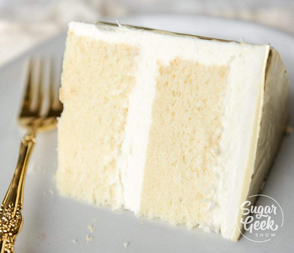 white cake recipe + tutorial (classic) | Sugar Geek Show