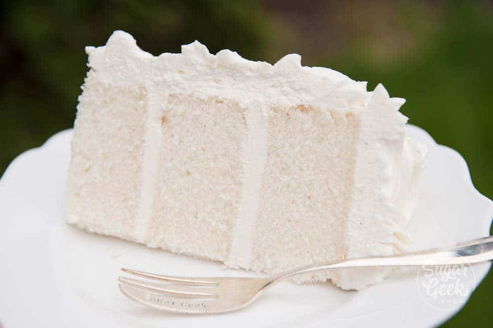 white velvet cake with ermine frosting