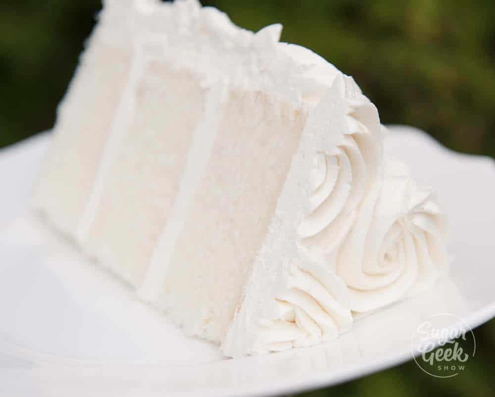 white velvet cake with ermine frosting