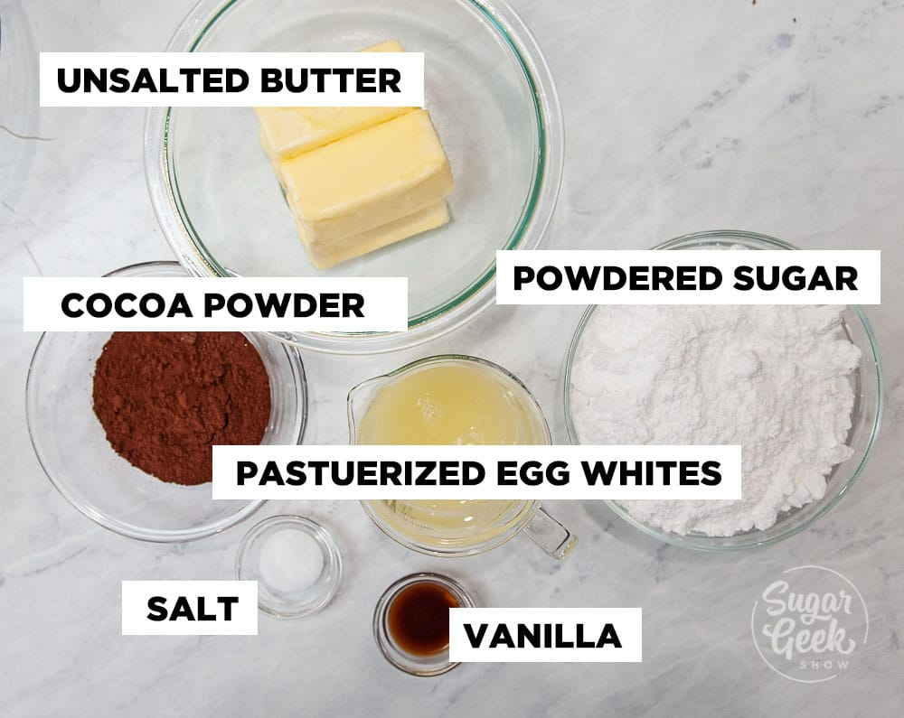 easy chocolate buttercream frosting ingredients