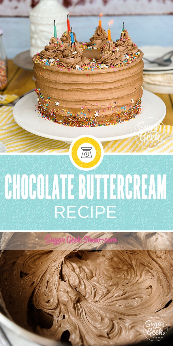 Homemade chocolate buttercream frosting is super easy to do and tastes amazing! I like to make my chocolate frosting with a good quality cocoa powder for maximum taste and fluffy texture.