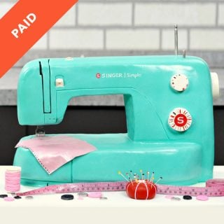 Sewing Machine Cake Tutorial