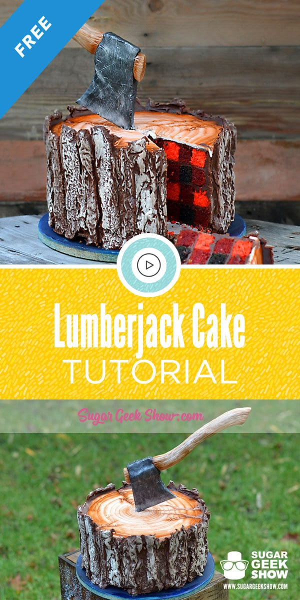The lumberjack cake is probably my favorite cake of all time. What happened to be a random experiment to see if I could make a buffalo plaid pattern inside a cake became a viral sensation! Three years later, it's still my most popular tutorial and now you can learn how to make it for free!