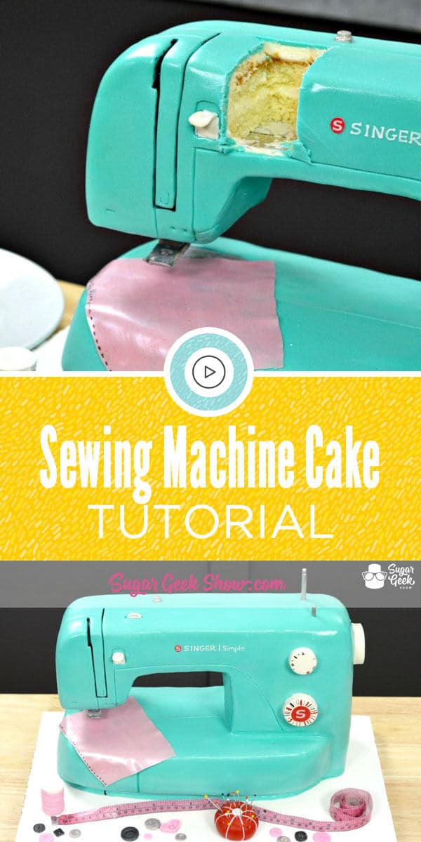 Sewing machine cake pictures can be found all over the web and I think everyone can agree, they're impressive! A cake that looks so much like an everyday object catches people's attention. Just about everyone knows someone who loves to sew and would absolutely love a sewing machine cake!
