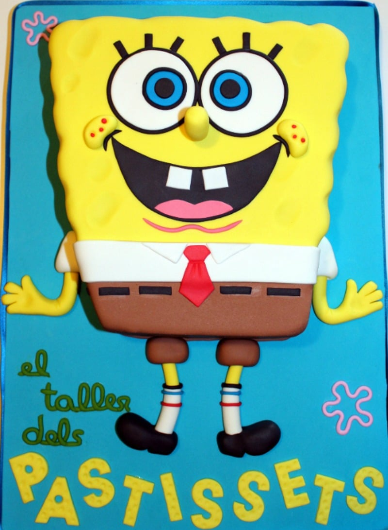 spongebob cake tutorial step by step