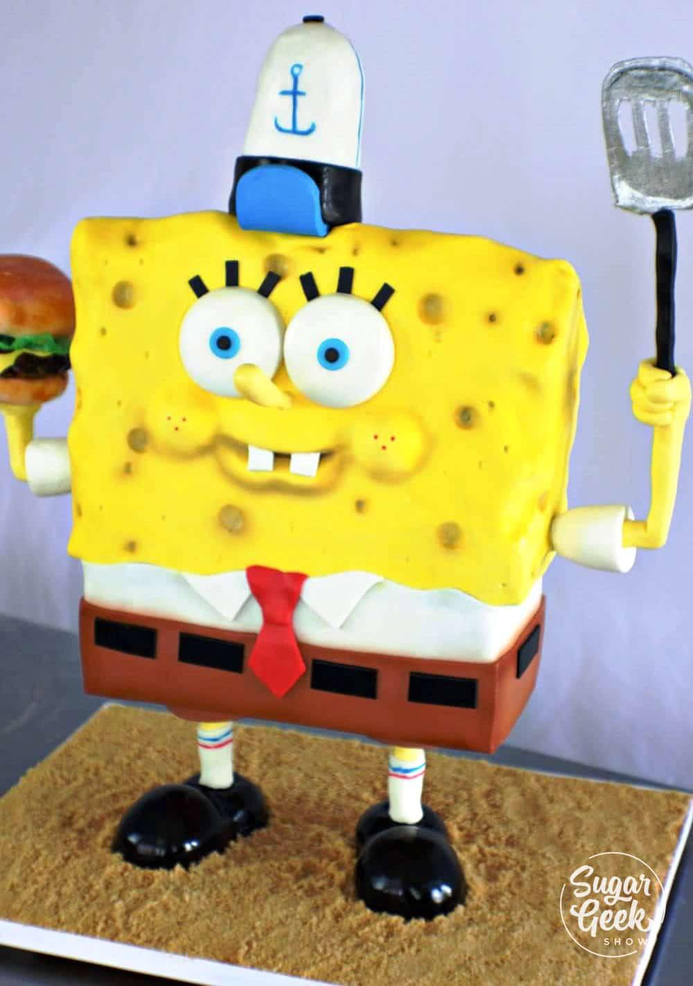 standing spongebob cake