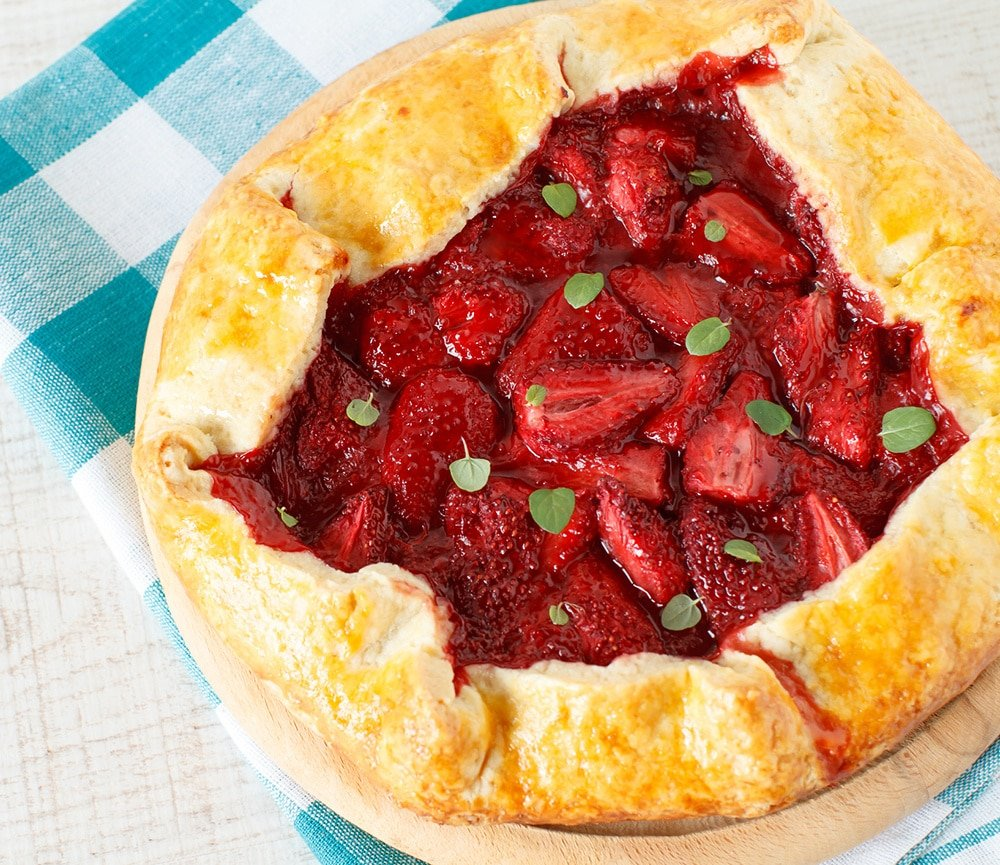 strawberry galette pie crust