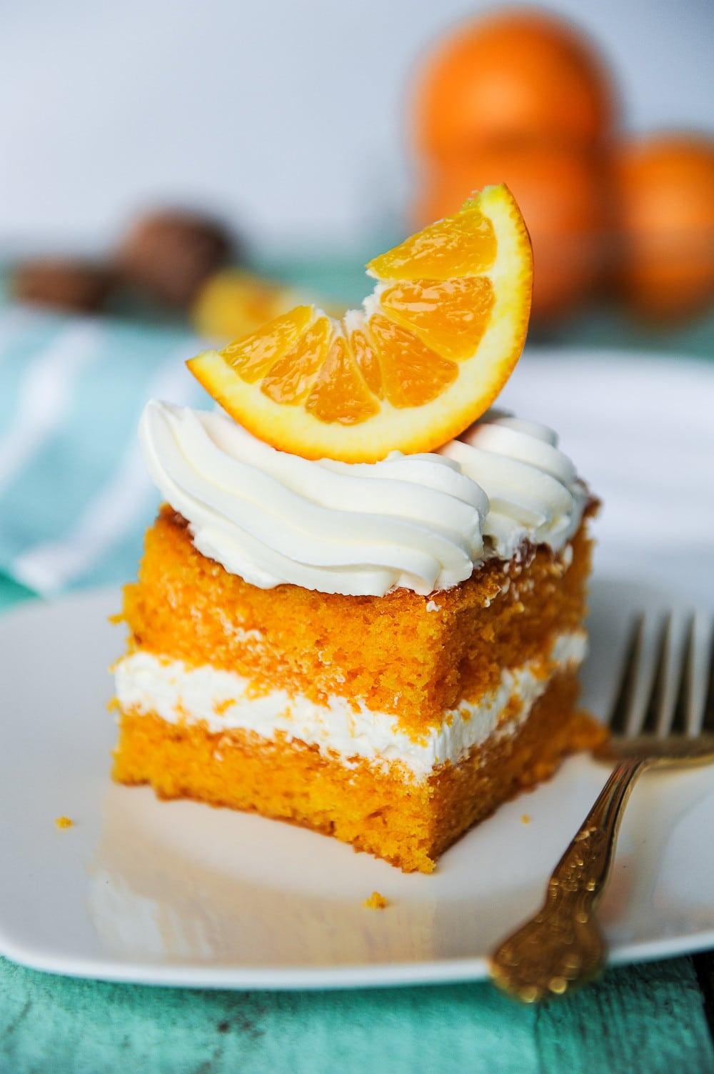 Orange Creamsicle Cake (from scratch) | Sugar Geek Show