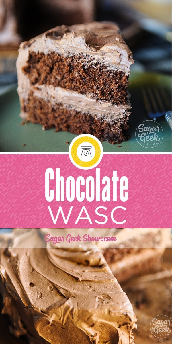Chocolate WASC is the chocolate version of our popular WASC recipe that with an addition of a few ingredients, your box cake will taste almost like scratch. The texture is light and fluffy but is still sturdy enough to carve a cake or stack into for a wedding cake.