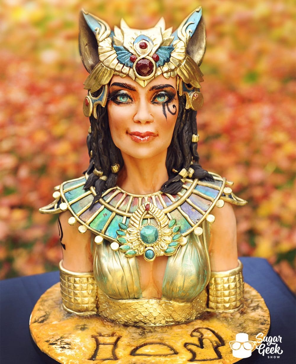 egyptian bust cake tutorial