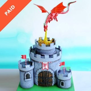 Dragon Castle Cake Tutorial