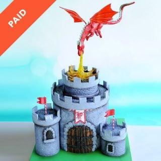 Dragon Castle Cake Tutorial