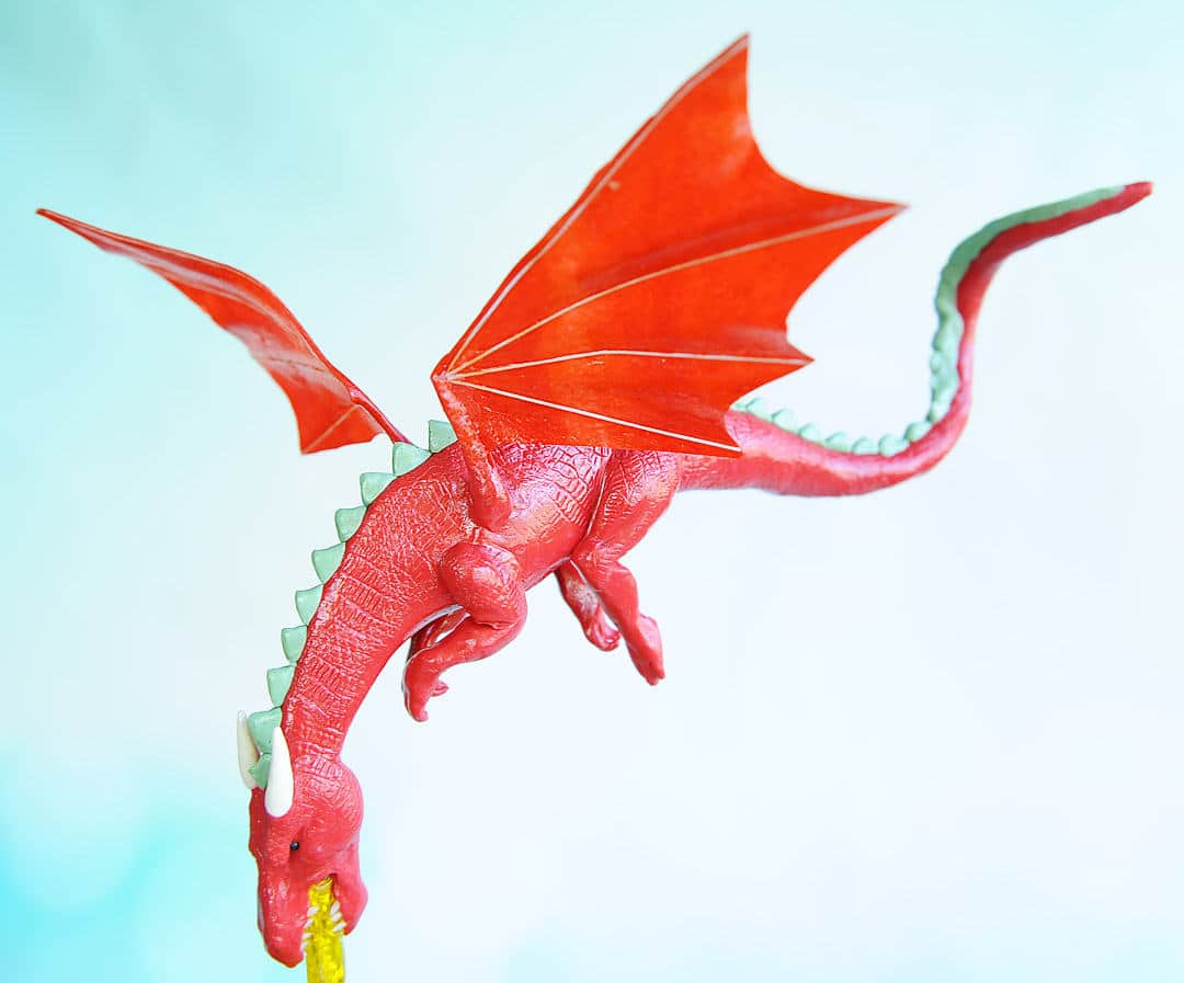 dragon cake topper detail shot