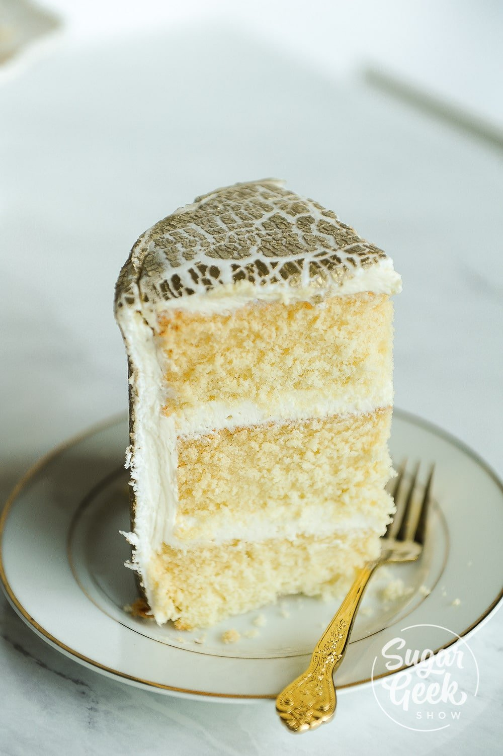 gold crackled fondant