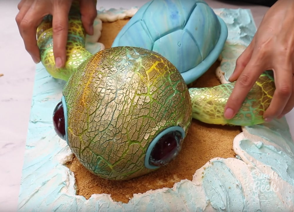 How To Make A Turtle Cake With Fondant