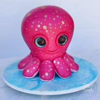 Sculpted octopus cake tutorial