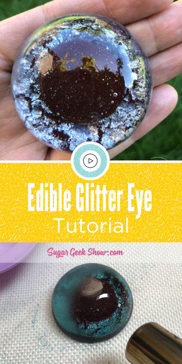 Edible Glitter Eye Tutorial