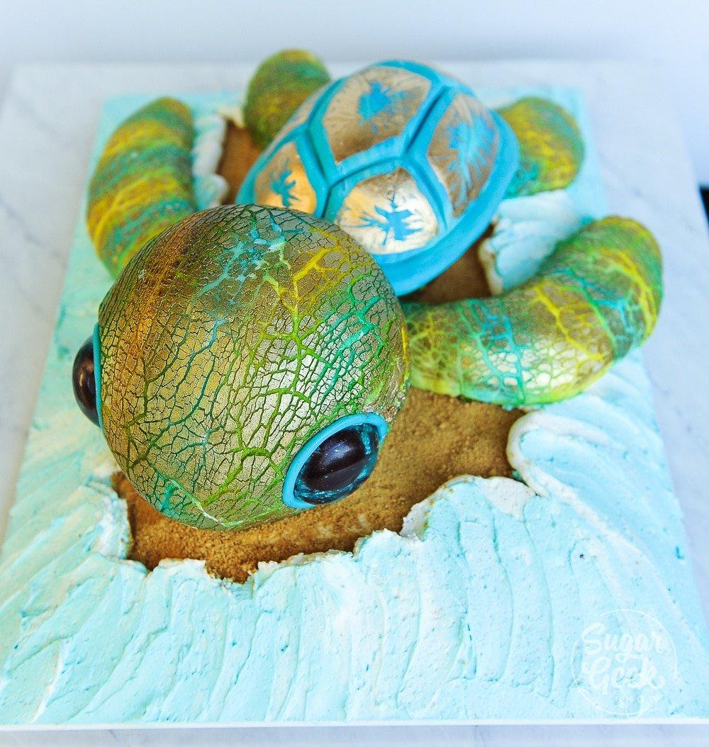 Sculpted Turtle Cake Video Tutorial Sugar Geek Show