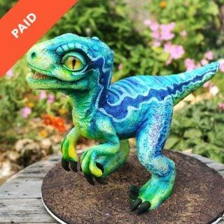 Blue Raptor Dinosaur Tutorial