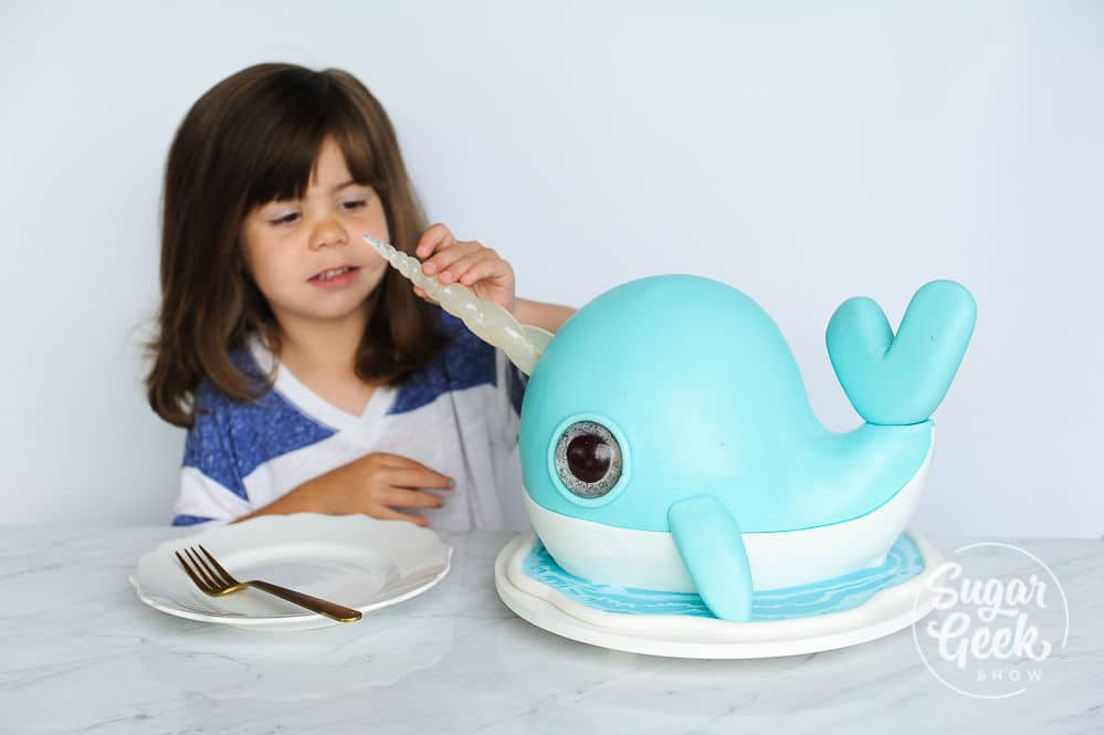 Narwhal Cake Tutorial Easy Video Tutorial Sugar Geek