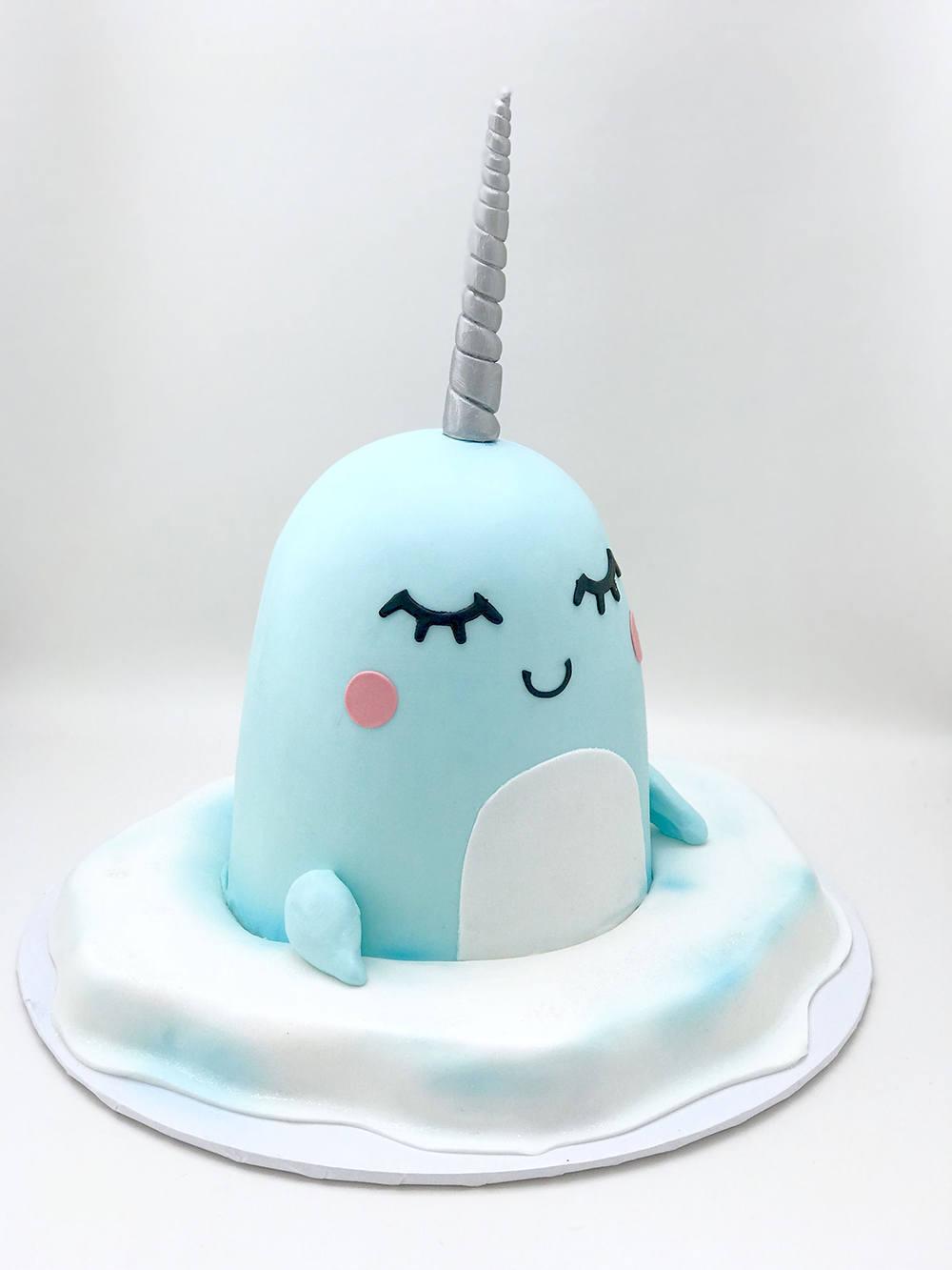 cute narwhal cake