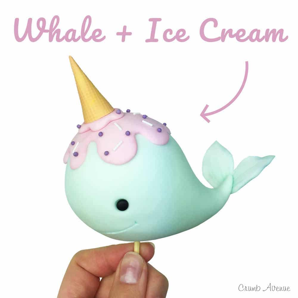 narwhal cake topper