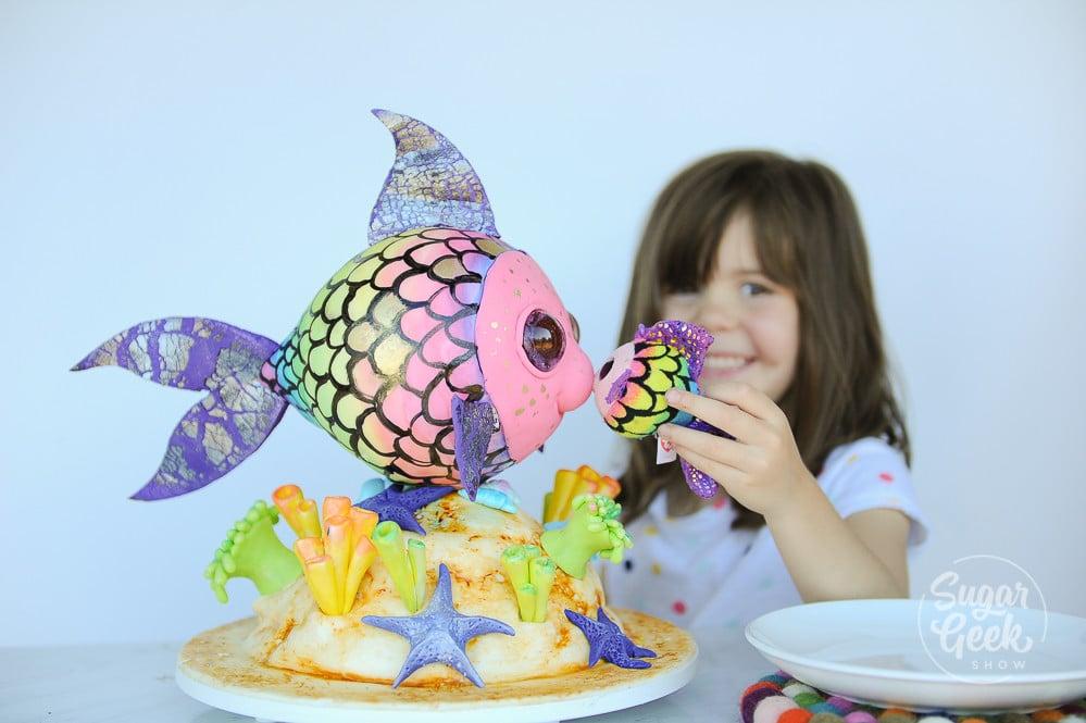 rainbow fish beanie boo