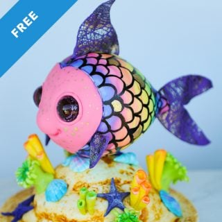 rainbow fish cake tutorial