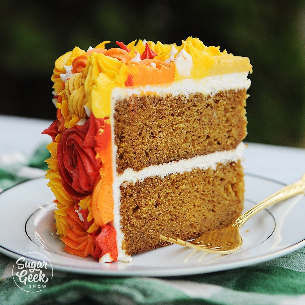 Pumpkin Spice Cake With Stable Cream Cheese Frosting