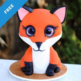 fox cake tutorial